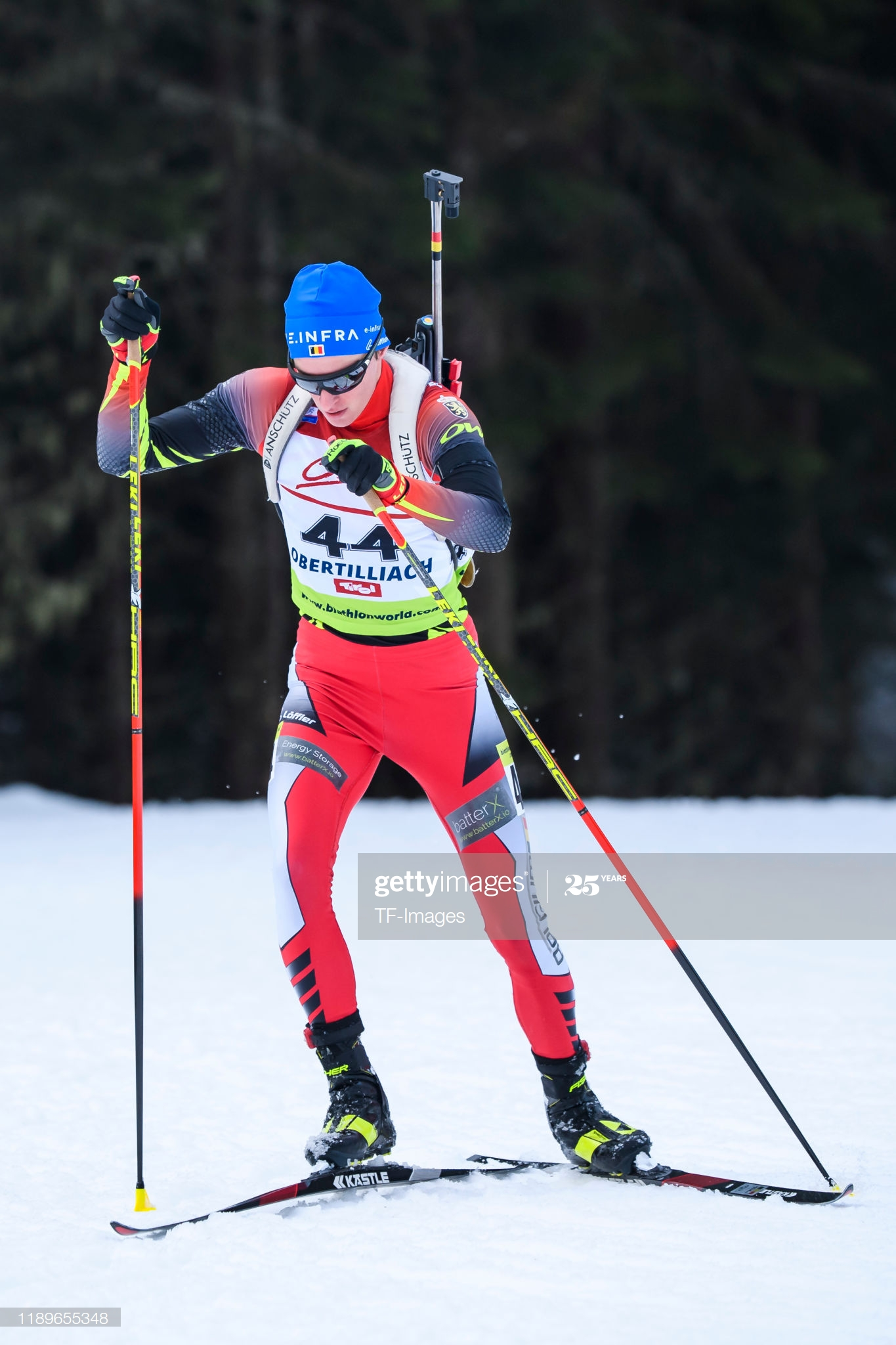 LIENZ, AUSTRIA - DECEMBER 18: (BILD ZEITUNG OUT) Pjotr Karel A Dielen of Belgium in action competes during the Men 15 km Short Individual of the IBU Cup Biathlon Obertilliach on December 18, 2019 in Obertilliach near Lienz, Austria. (Photo by TF-Images/Getty Images)